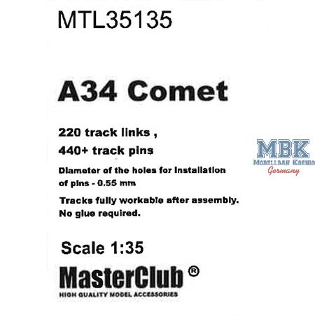 Workable Metal Tracks for A34 Comet
