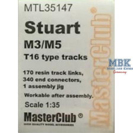 Workable Metal Tracks f. M3/M5 Stuart Typ T16