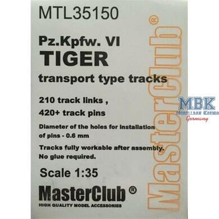 Workable Metal Tracks for Tiger I Transport track