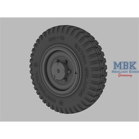Sd.Kfz.221/222 road wheels (late pattern)