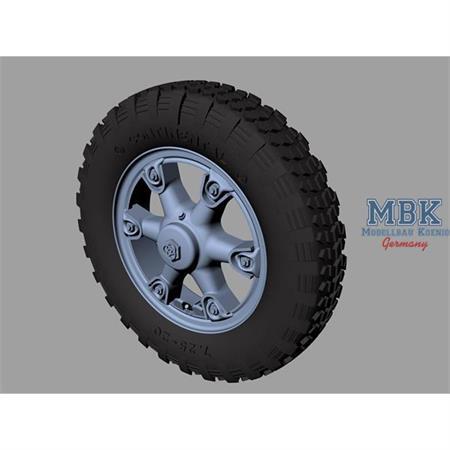 Krupp L3H163 road wheels (Gelände pattern)