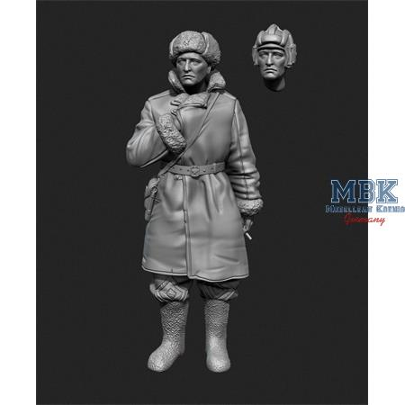 Soviet Tank officer in sheepskin coat No.2