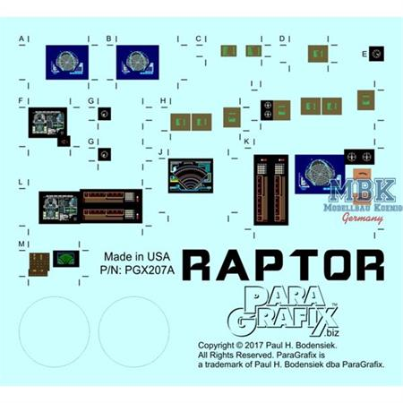 BSG Raptor Photoetch Set
