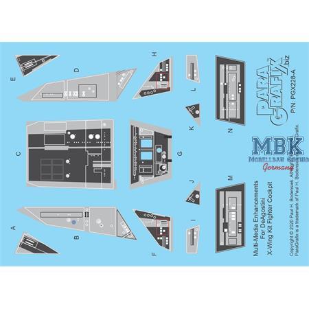 X-Wing Detail Set for DeAgostini Kit   1/72