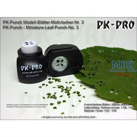 PK-Punch - Modell-Blätter-Leaf Modell 3