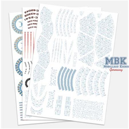 Star Trek U.S.S. Excelsior Aztec Decal Set