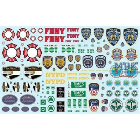1/25 NYC Auxiliary Service Logos Decal Set
