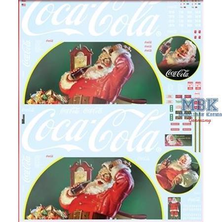 Vintage Coca Cola Santa Claus Big Rig Decal Set