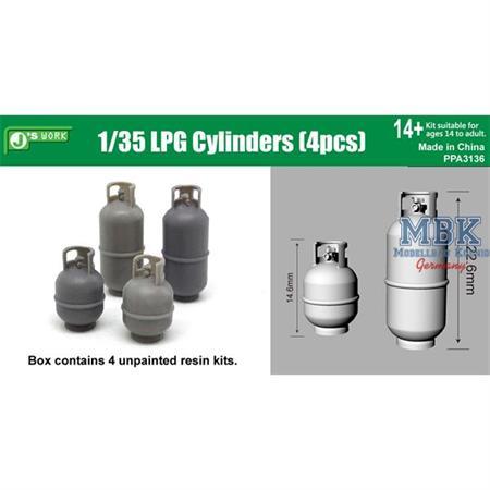 LPG Cylinders / Gasflaschen 4pcs  1/35