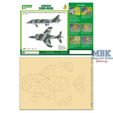 CAMO-MASK 1/72 Hawker Harrier GR.1  Camo Scheme