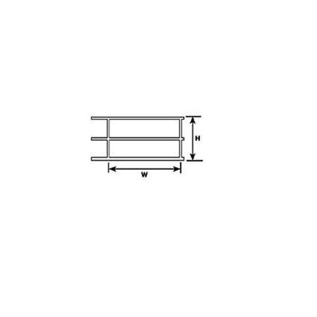 Geländer (1:24) mm.44,5Hx76,2Wx600L