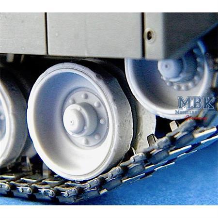 Leopard 2 abgenutzte Laufrollen