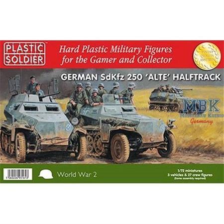 """Sd.Kfz. 250 """"Alte"""" - 3 Stück + 27 Figuren"""