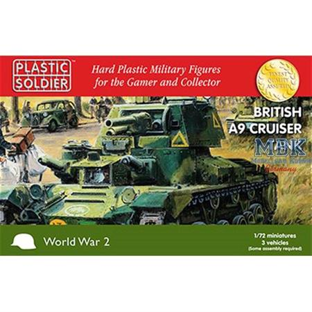 British A9 Cruiser Tank (3 Stück)