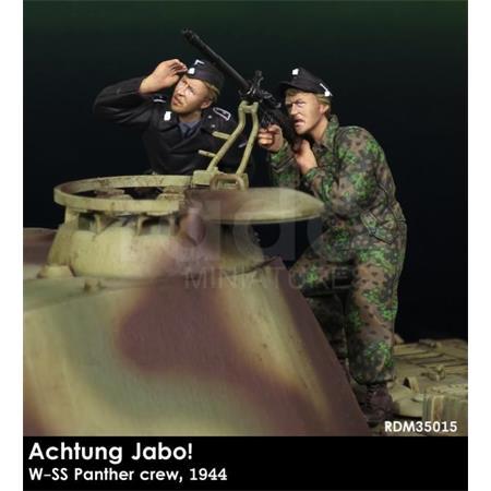 """""""Achtung JaBo"""" Waffen SS Panther Besatzung 1944"""
