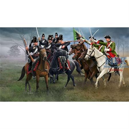 Österr. Dragoner & preuß. Husaren Seven Years War
