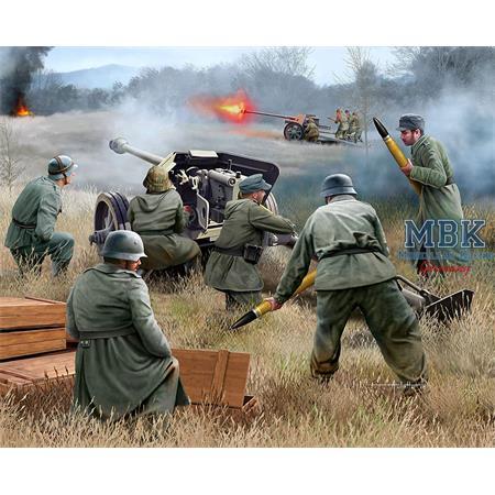 German 7,5 cm PaK40 & soldiers
