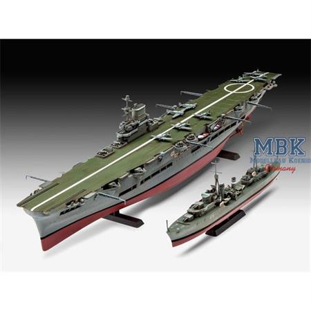 HMS Ark Royal + Tribal Class Zerstörer / Destroyer