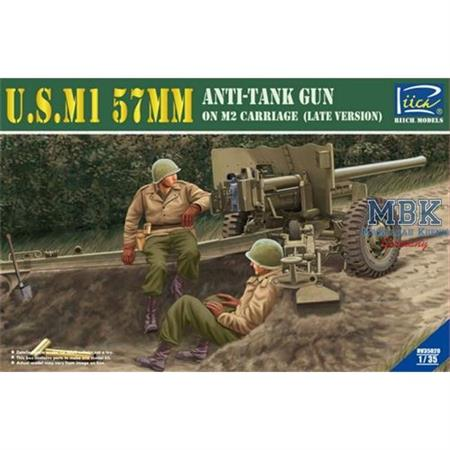U.S. M1 57mm anti tank Gun late