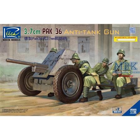 3,7cm Pak 36 Anti-Tank Gun