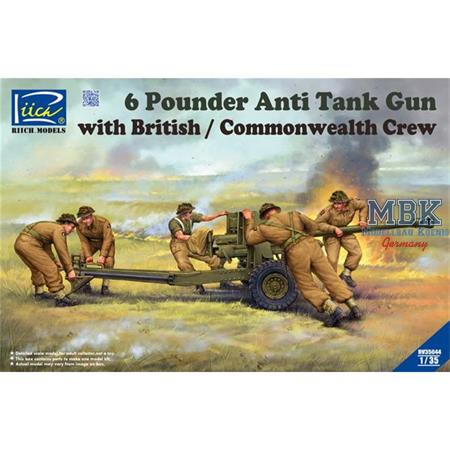 6 Pounder Infantry Anti-tank Gun with Brit. Crew