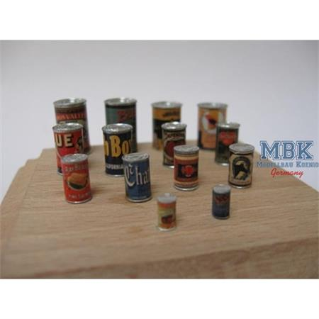 Cans with Labels