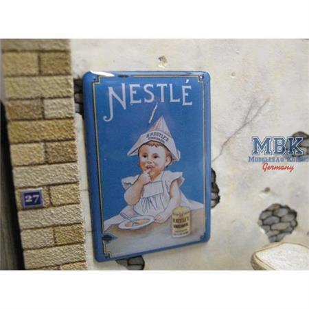 """Real Enamel Sign """"Nestle"""""""