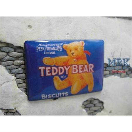 "Real Enamel Sign ""Teddy Bear Biscuits"""