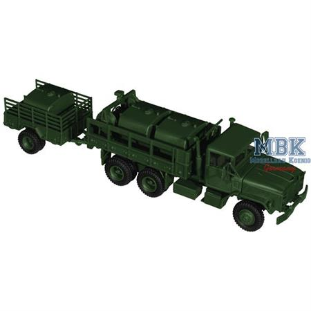 M 923/M 925 mit Anhänger mit Tankaufsatzbehälter