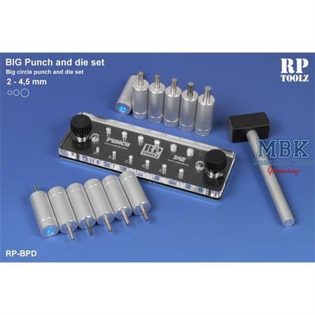 """Big Punch and die set """"Rund"""" 2mm-4,5mm"""