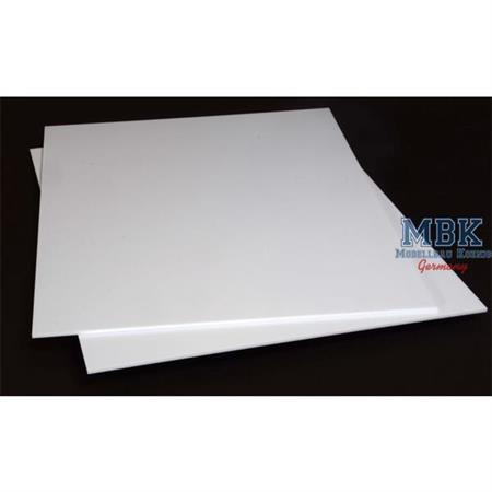 2 mm Stirene sheets 245x195mm Plastikkarte
