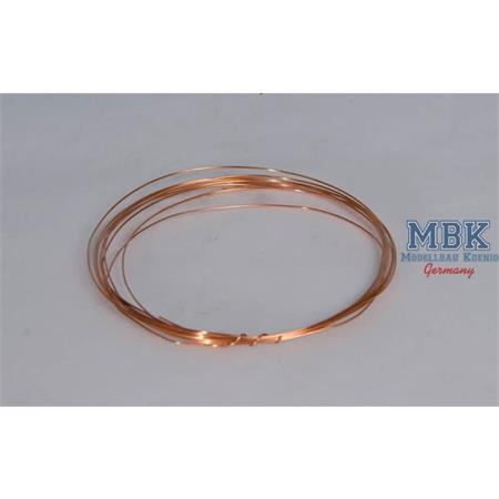 0,5 mm Brass wire / Kupferkabel