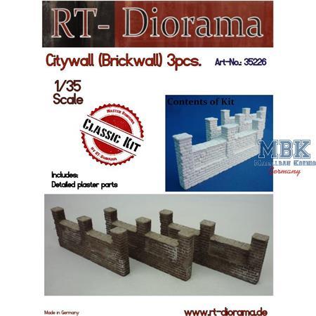 Citywall (Brickwall) 3pcs.