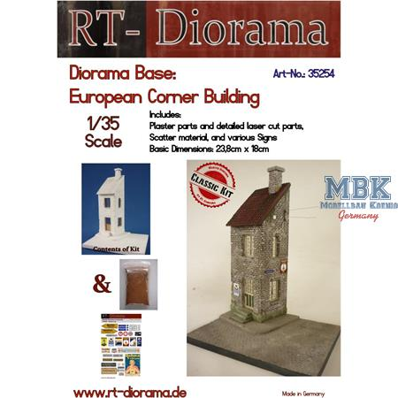 Diorama-Base: European Corner Building