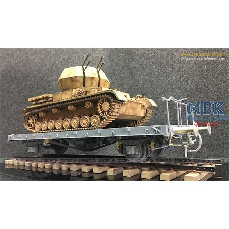 Flachwagen 0mmr - German Railway Flatbed Ommr