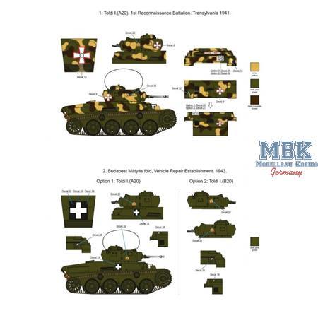 Hungarian Toldi A20-B20  WWII Decalset