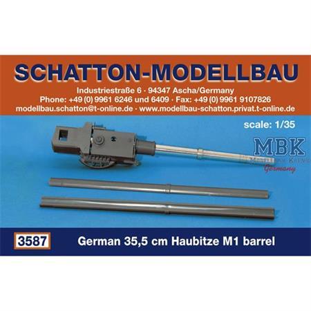 Rohr für deutsche 35,5cm Haubitze M1