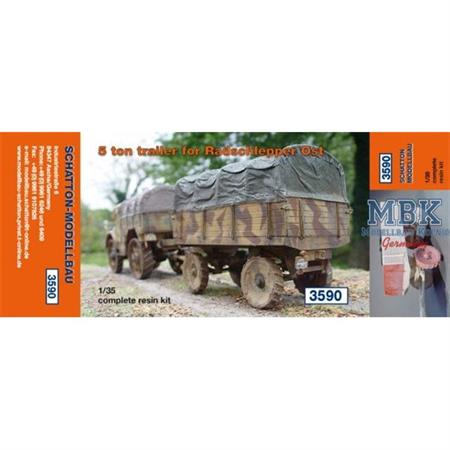 5 Ton Trailer for Radschlepper Ost