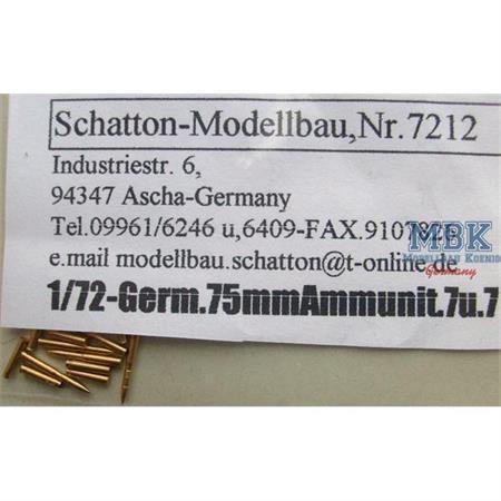 7,5cm L/48 PaK/KwK Munition und Hülsen
