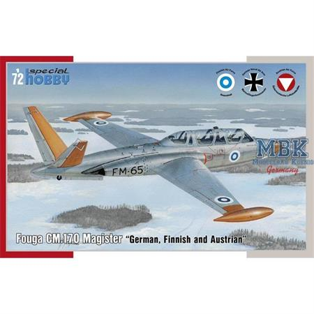 Fouga CM.170 Magister German/Finnland/Österrei1/72
