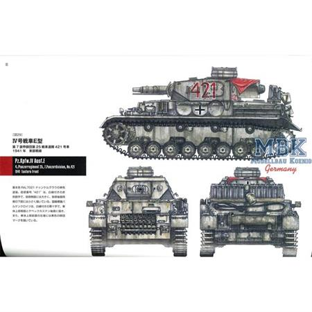 Panzer IV Ausf. A-F Military Detail Illustration