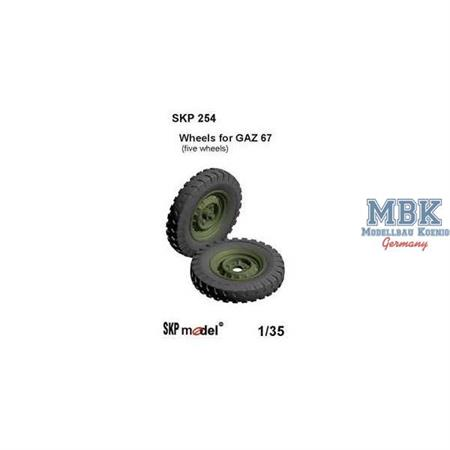 Wheels for GAZ 67 (Trumpeter)