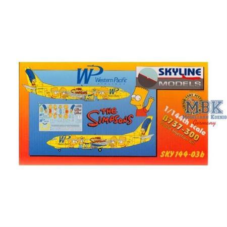 """Boeing 737-300 """"Simpsons"""" Western Pacific 1:144"""