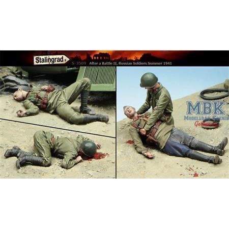 After a Battle II - Dead Soviets - 4 Figures