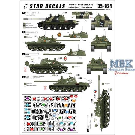 Cold War T-54 and T-55 tanks