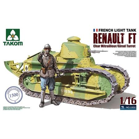 Renault FT-17 Char Mitrailleur (Girod turret) 1:16