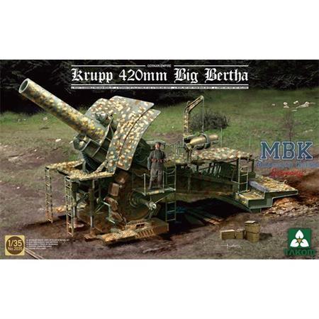 German 420mm Big Bertha Siege Howitzer