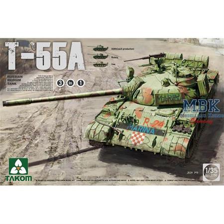 Russian Medium Tank T-55 A [3 in 1]