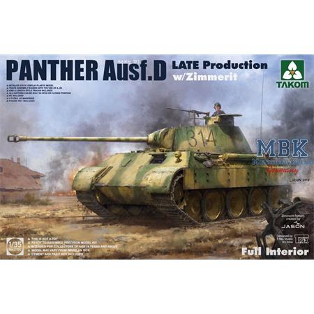 Panther D late mit Zimmerit - full Interior