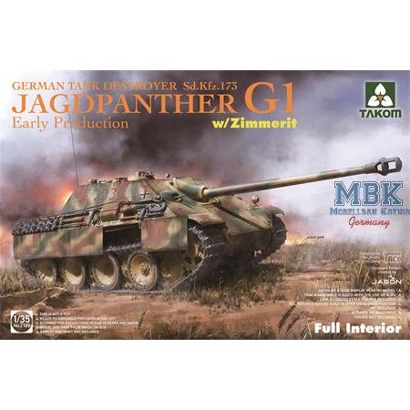 Jagdpanther G1 early w/ Zimmerit full Interior
